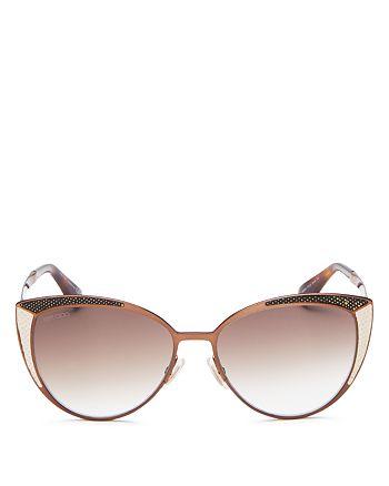 Jimmy Choo - Women's Domi Mirrored Watersnake Sunglasses, 56mm