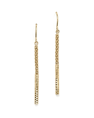 14K Yellow Gold Popcorn Drop Earrings - 100% Exclusive
