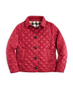 Burberry Girls Diamond Quilted Jacket Little Kid