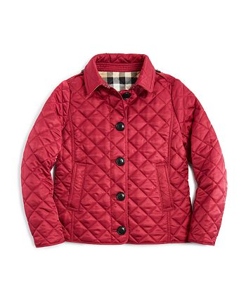 Burberry Girls Diamond Quilted Jacket Little Kid Big Kid