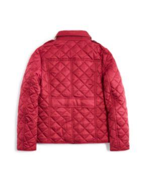 Burberry Girls' Diamond Quilted Jacket - Little Kid, Big Kid ... : red burberry quilted jacket - Adamdwight.com