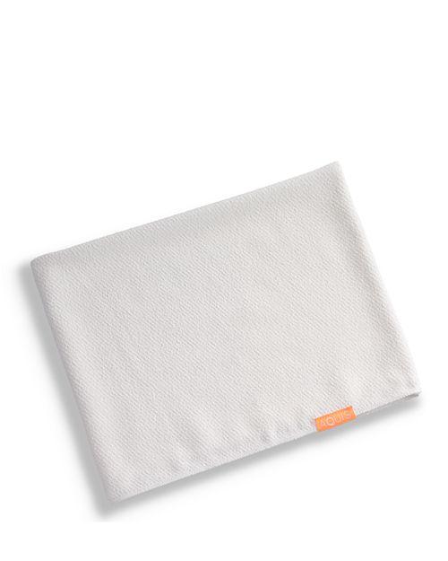 Aquis Waffle Luxe Long Hair Towel White Image 1