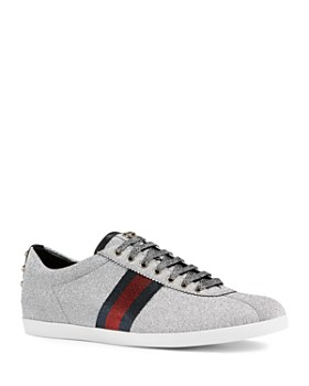 c51e0492a Gucci - Men's Bambi Web Metallic Sneakers ...