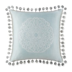 "Waterford Jonet Ball-Fringe Decorative Pillow, 16"" x 16"" - Bloomingdale's_0"
