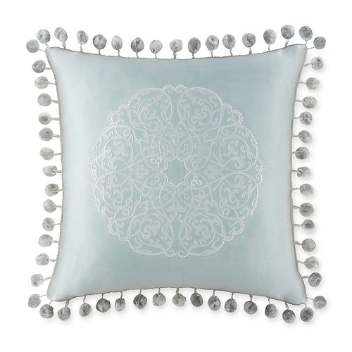 "Waterford - Jonet Ball-Fringe Decorative Pillow, 16"" x 16"""