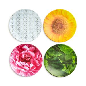 kate spade new york Patio Floral Melamine Tidbit Plates, Set of 4