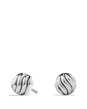 David Yurman - Sculpted Cable Earrings in Sterling Silver