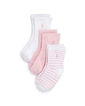 Ralph Lauren - Girls' Crew Socks, 3 Pack - Baby