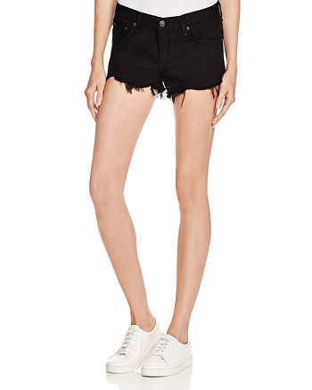 334039cacf2b7 rag   bone JEAN - Cutoff Denim Shorts in Black