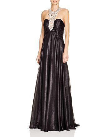 Mignon - Embellished Neck Gown
