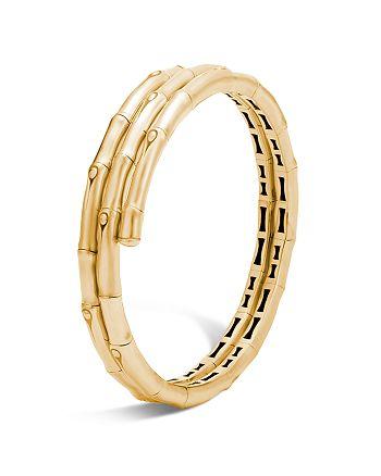JOHN HARDY - 18K Yellow Gold Bamboo Coil Bracelet