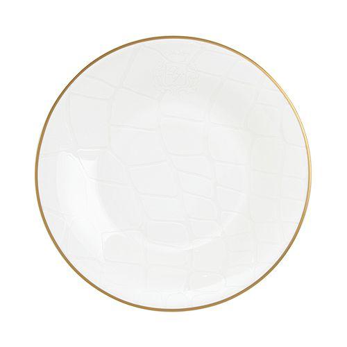 Domenico Vacca by Prouna - Alligator White Salad Plate