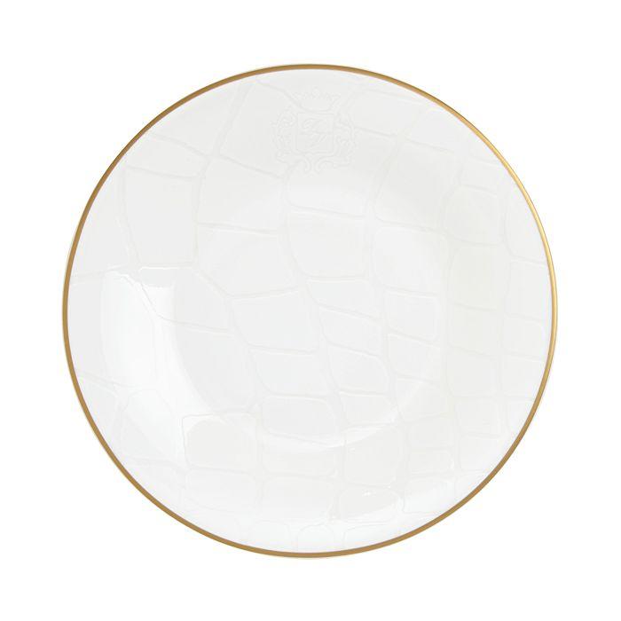 Prouna - Alligator White Salad Plate