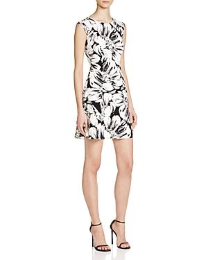 Aqua Floral Print Fit And Flare Dress - 100% Exclusive