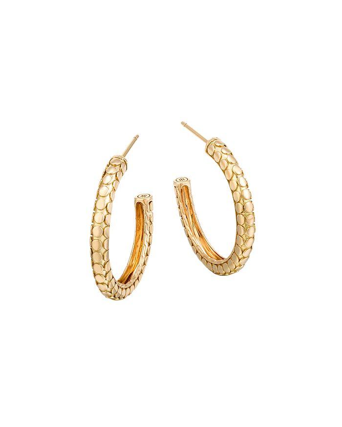 JOHN HARDY - 18K Yellow Gold Dot Small Hoop Earrings