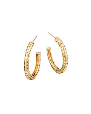 John Hardy 18K Yellow Gold Dot Small Hoop Earrings