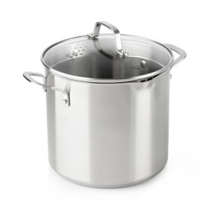 Calphalon Classic Stainless Steel Strain-and-Pour 8-Quart Stock Pot