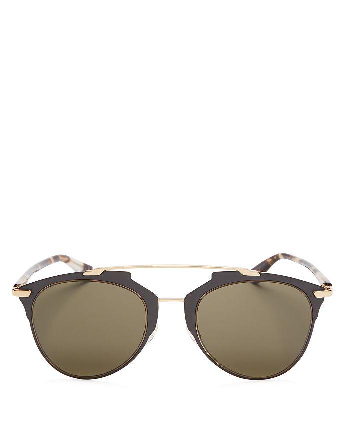 Dior - Women's Reflected Mirrored Brow Bar Aviator Sunglasses, 52mm