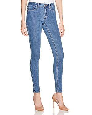 Noisy May Lucy Slim Jeans in Medium Blue Denim