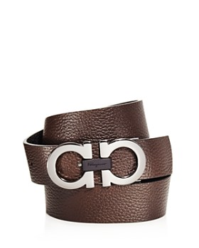 Salvatore Ferragamo - Wide Double Gancini with Wood Belt