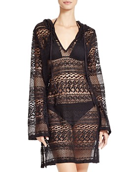Boho Me - Hooded Mini Dress Swim Cover-Up