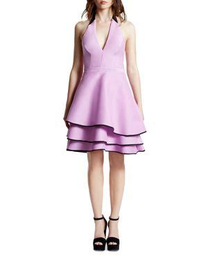 Halston Heritage Tiered Hem Halter Dress 1671411