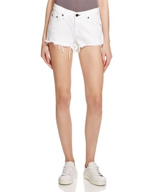 rag & bone/Jean Cutoff Denim Shorts in White 1638645