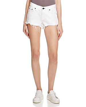rag & bone/Jean Cutoff Denim Shorts in White