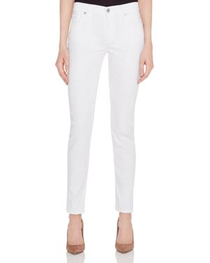 7 For All Mankind Skinny Jeans in White Twill - 100% Exclusive 1674179