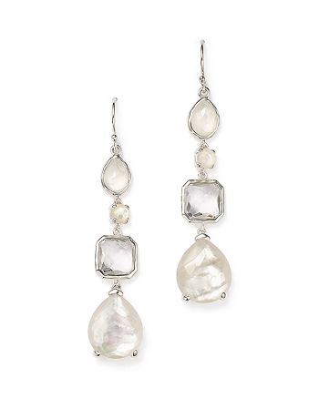 IPPOLITA - Sterling Silver Rock Candy® Clear Quartz and Mother-of-Pearl Drop Earrings