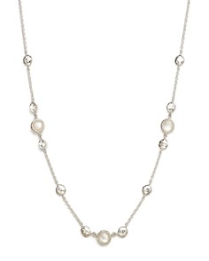 IPPOLITA - Sterling Silver Rock Candy® Mother-of-Pearl and Clear Quartz Doublet Necklace, 16""
