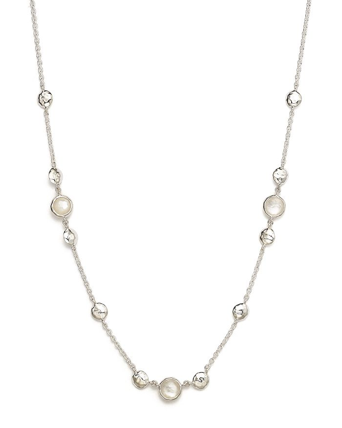"""IPPOLITA - Sterling Silver Rock Candy® Mother-of-Pearl and Clear Quartz Doublet Necklace, 16"""""""