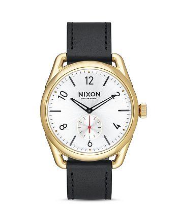 Nixon - C39 Leather Strap Watch, 39mm