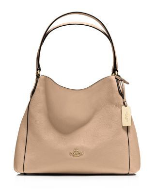 coach edie shoulder bag 31 in refined pebble leather bloomingdale s rh bloomingdales com