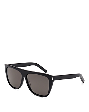 Saint Laurent Men\\\'s Flat Top Square Sunglasses, 59mm-Men
