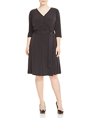 Vince Camuto Plus Polka Dot Wrap Dress