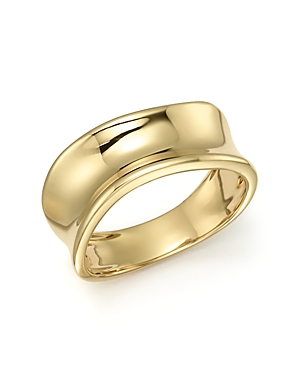 Click here for Concave Band Ring in 14K Yellow Gold - 100 Exclusi... prices