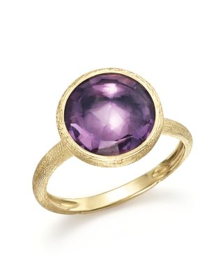 Jaipur Amethyst & 18K Yellow Gold Medium Stackable Ring