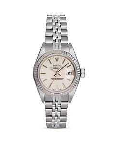 Pre-Owned Rolex - Stainless Steel and 18K White Gold Datejust Watch with Jubilee Bracelet, 26mm