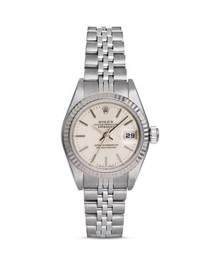 Pre-Owned Rolex Stainless Steel and 18K White Gold Datejust Watch with Jubilee Bracelet, 26mm