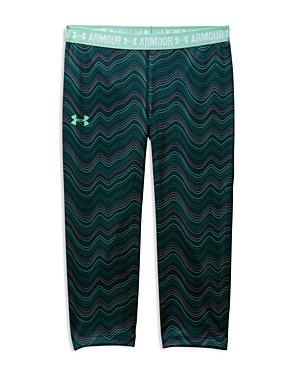 Under Armour Girls' HeatGear Graphic Capri Leggings - Sizes Xs-xl