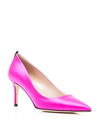 SJP by Sarah Jessica Parker - Women's Fawn Satin Mid Heel Pumps