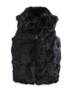 Surell Girls' Collared Fur Vest - Big Kid - Bloomingdale's_0