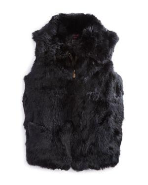 Surell Girls' Collared Fur Vest - Big Kid