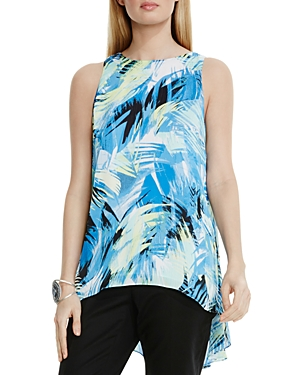 Vince Camuto Tropical Print High/Low Top