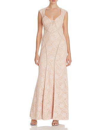 AQUA - Illusion Inset Lace Gown - 100% Exclusive