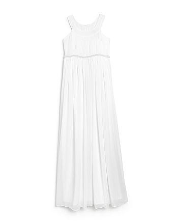 US Angels - Girls' Grecian Junior Bridesmaid Dress - Big Kid