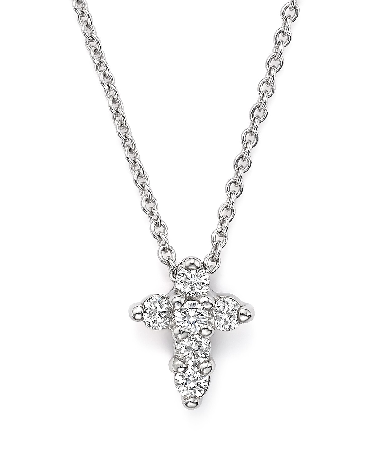 Roberto coin 18k white gold small cross pendant necklace with pdpimgshortdescription pdpimgshortdescription pdpimgshortdescription audiocablefo