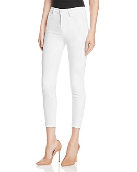 J Brand - Alana High Rise Crop Jeans in Blanc