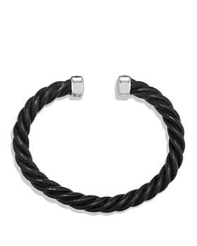David Yurman - Cable Classics Leather Cuff Bracelet in Black